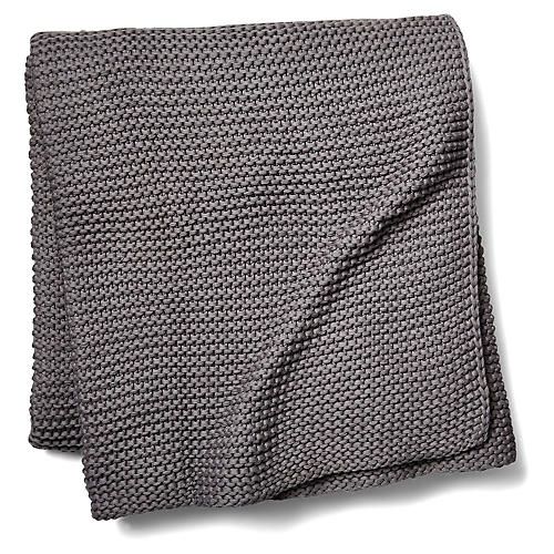 North Branch Cotton Throw, Gray