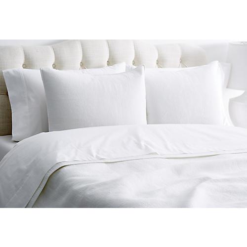 Knob Hill Stitch Quilt Set, White