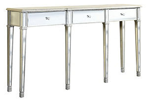 Asher Mirrored Console Table, Silver