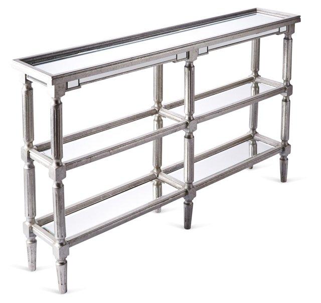 Cameron Console Table, Silver