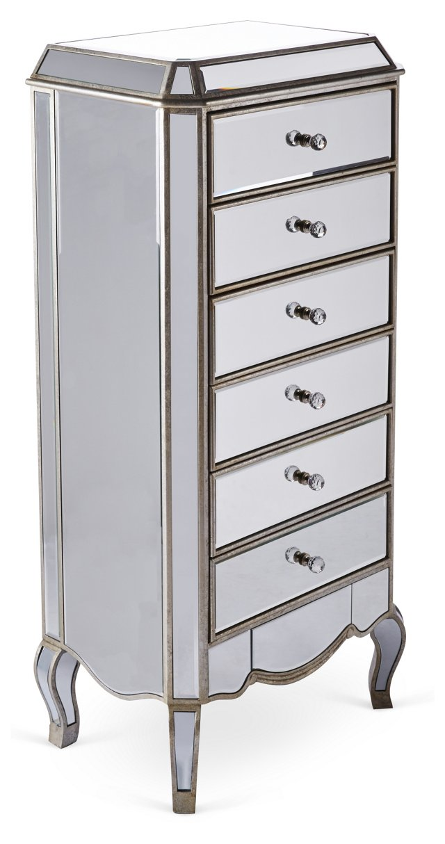 Dahlia Chest of Drawers, Silver