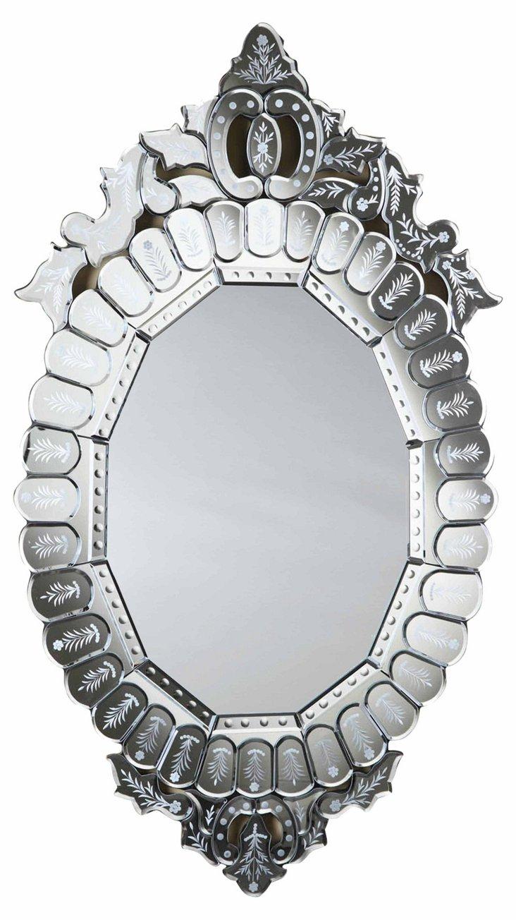 Veria Wall Mirror, Clear