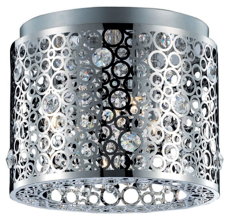 Elodie Flush Mount, Chrome