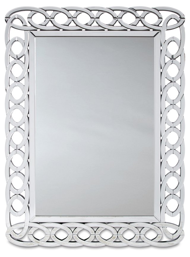 Cantal Wall Mirror, Silver