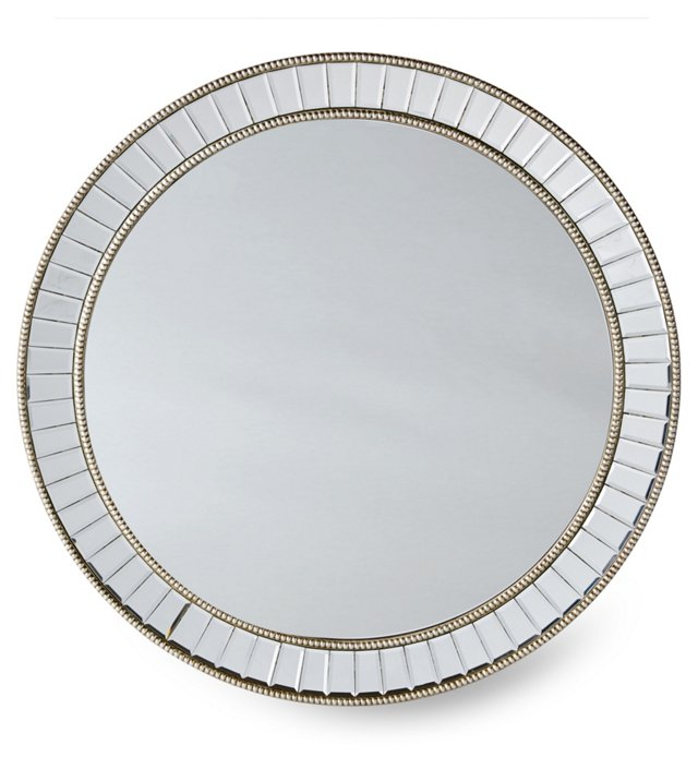 Moselle Wall Mirror, Silver