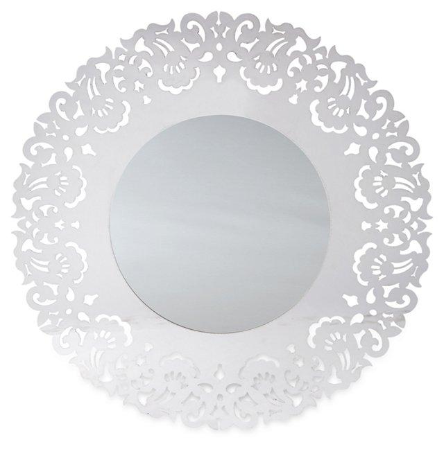 Beckett Oversize Mirror, Silver