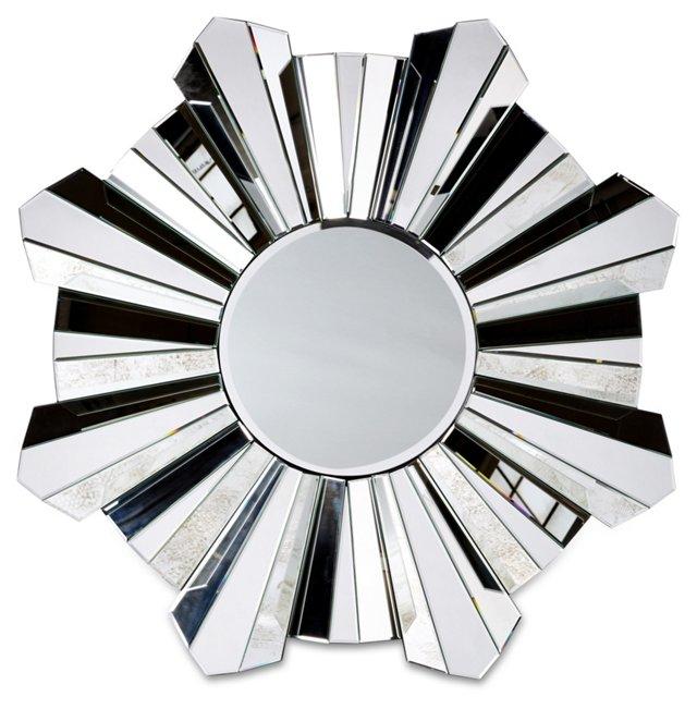 Mateo Oversize Mirror, Silver