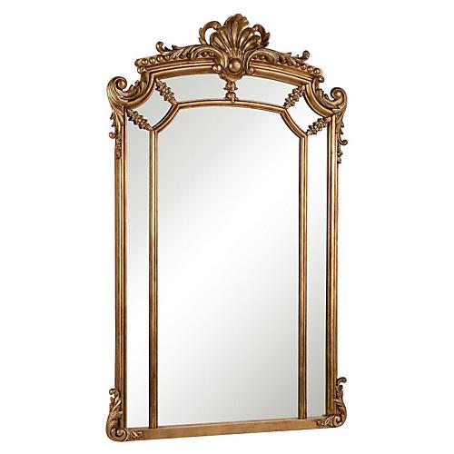 """Ingrid 30""""x48"""" Oversize Mirror, Gold"""