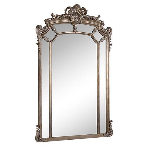 Landon Oversize Mirror, Silver