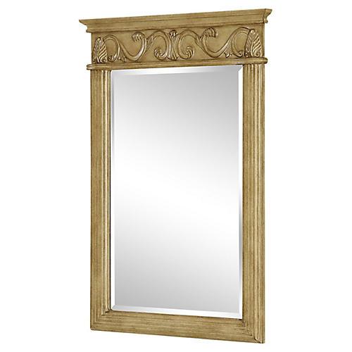 Verratti Wall Mirror, Antiqued Beige