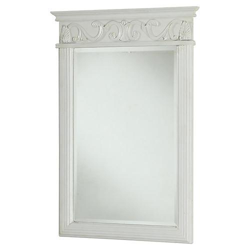 Verratti Wall Mirror, Antiqued White