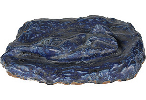 Ceramic Lapis Blue Table Sculpture