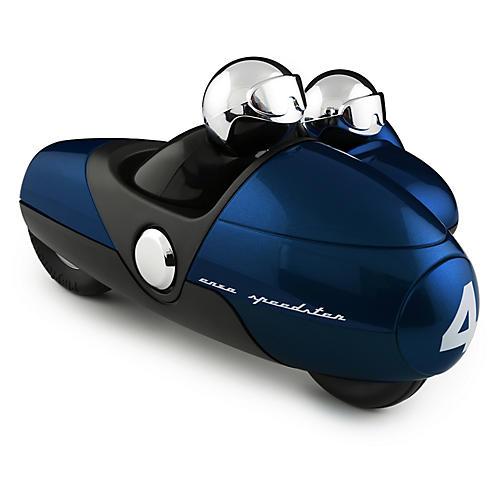 Enzo Motorbike Toy, Metallic Blue/Chrome