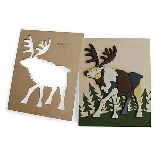 Feller Reindeer Puzzle, Brown/Multi