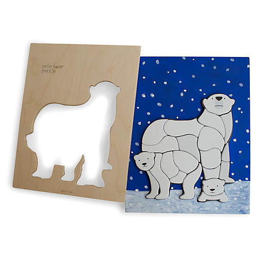 Feller Polar Bear Puzzle, Blue/Multi