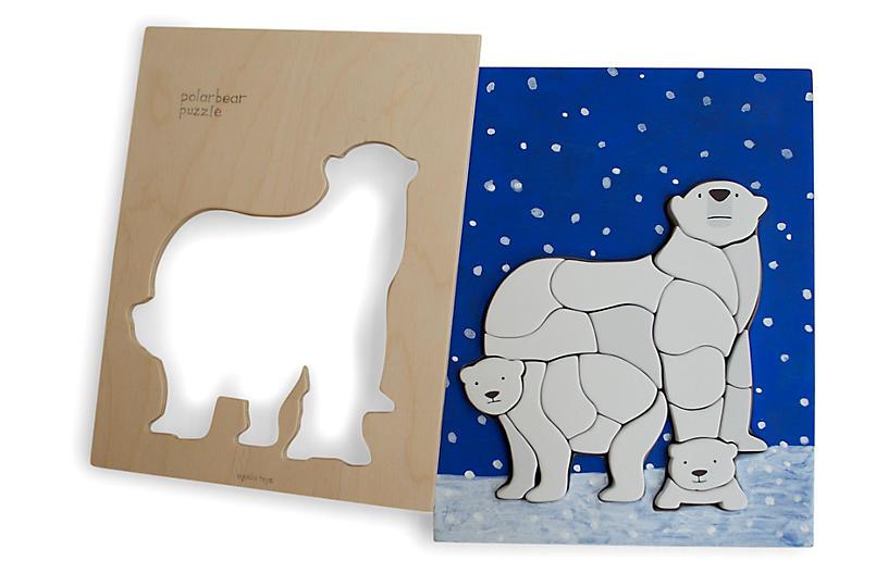 Feller Polar Bear Puzzle, Blue/Multi