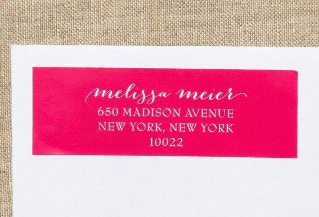 S/80 Custom Address Labels, Hot Pink