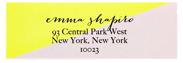 S/80 Custom Address Labels, Colorblock
