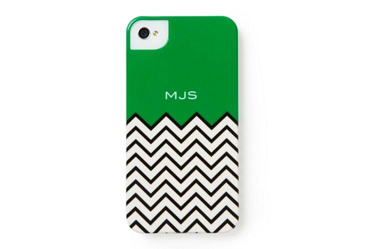 Chevron Custom iPhone Case, Green
