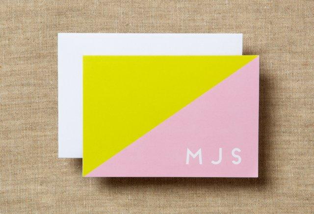 S/20 Custom Folded Notes, Colorblock