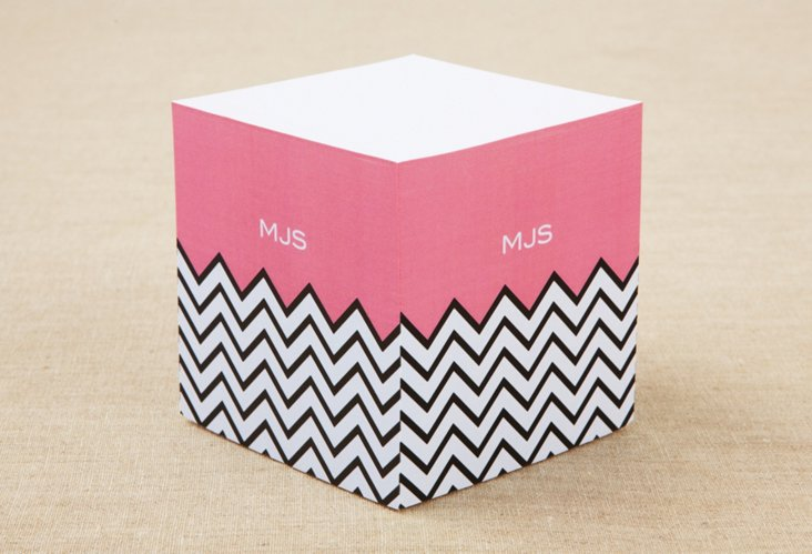 Custom Sticky Note Cube, Chevron
