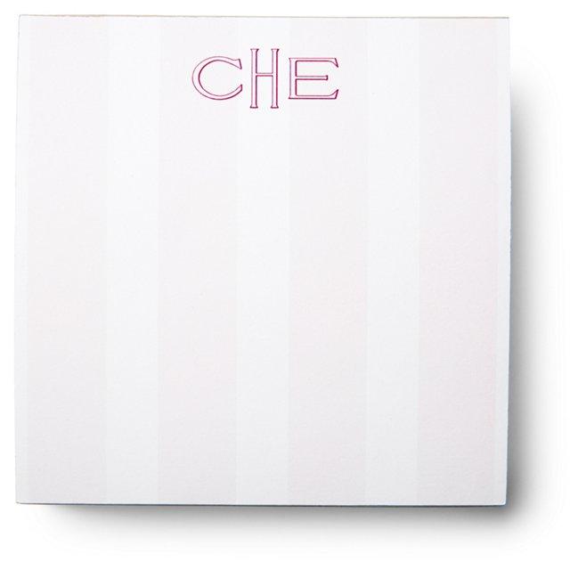 200 Sheet Square Notepad, Pink