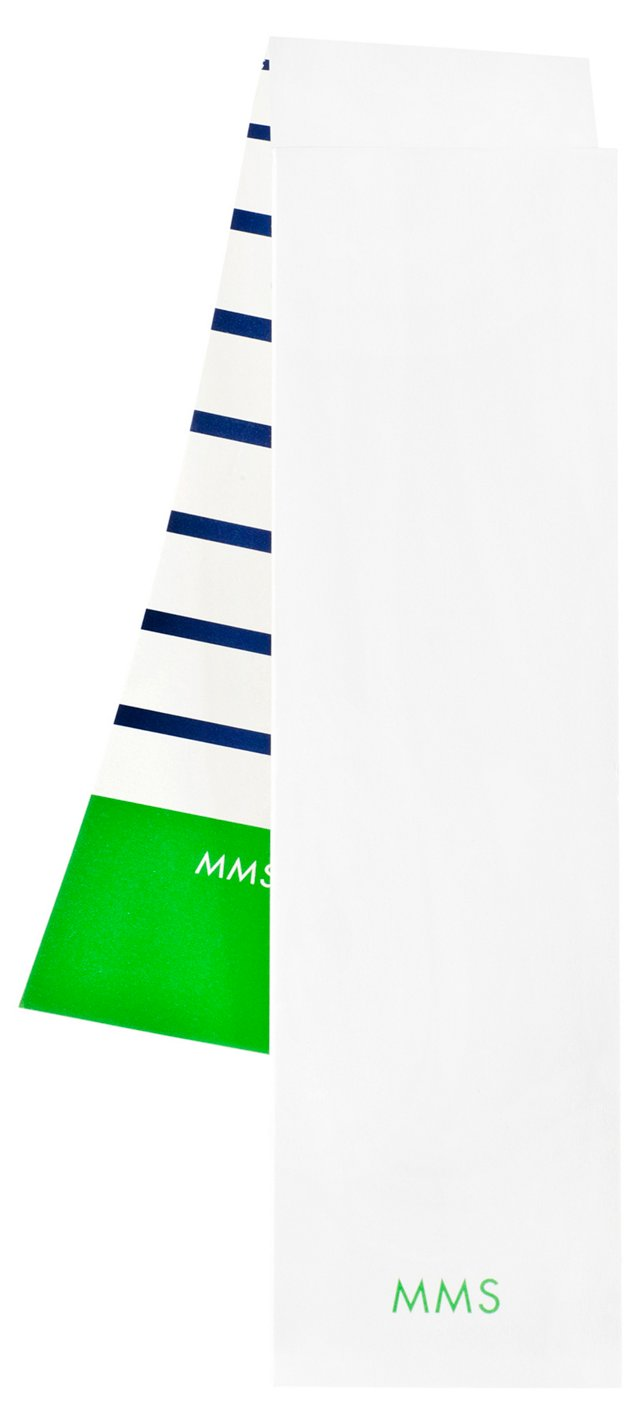 S/2 Custom Covered Notepads, Navy/Green