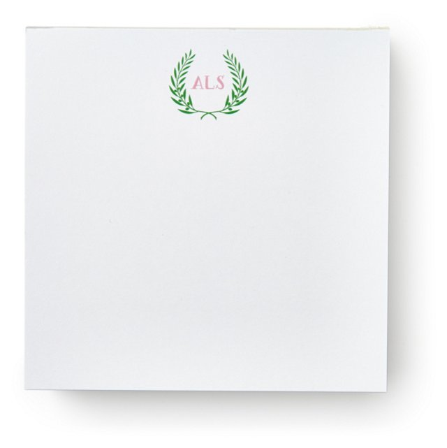 200 Sheet Square Notepad, Crest