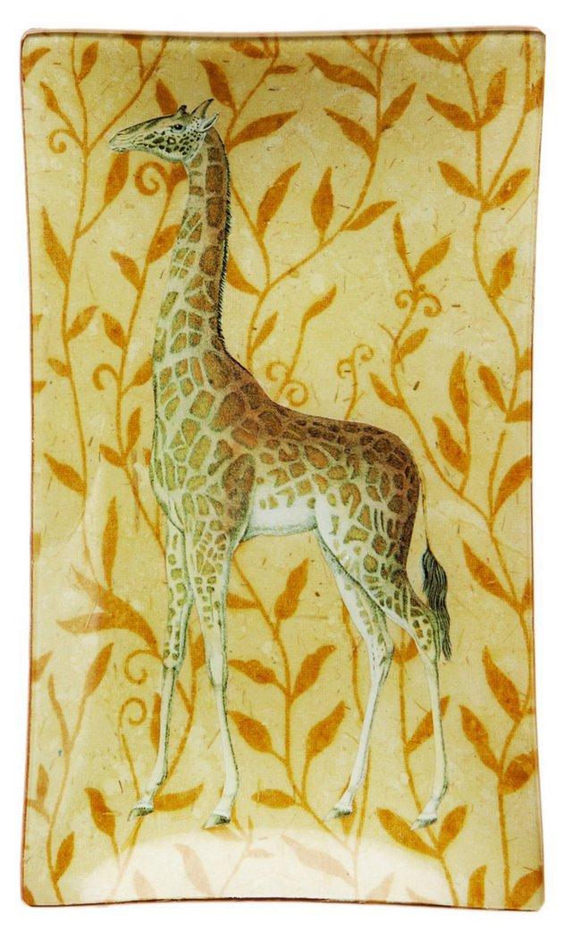 6x10 Giraffe Decoupage Tray