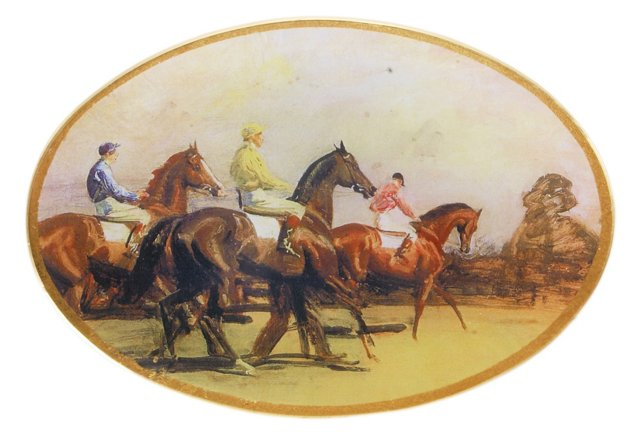 7x10 Jockeys Decoupage Tray