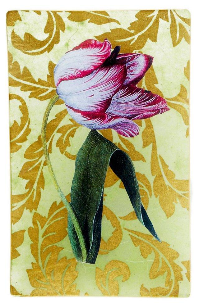 5x8 Tulip Decoupage Tray
