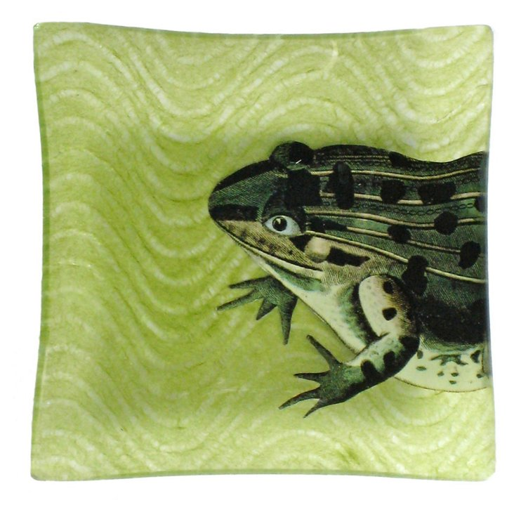 "5"" Frog Decoupage Tray"