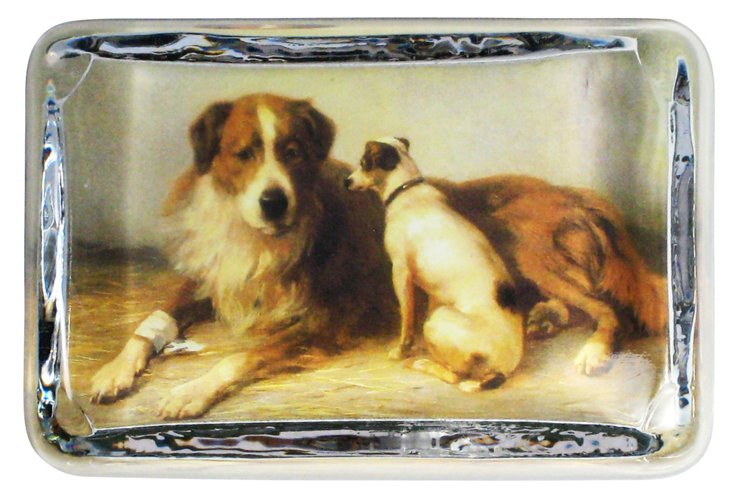 2 Dogs Paperweight