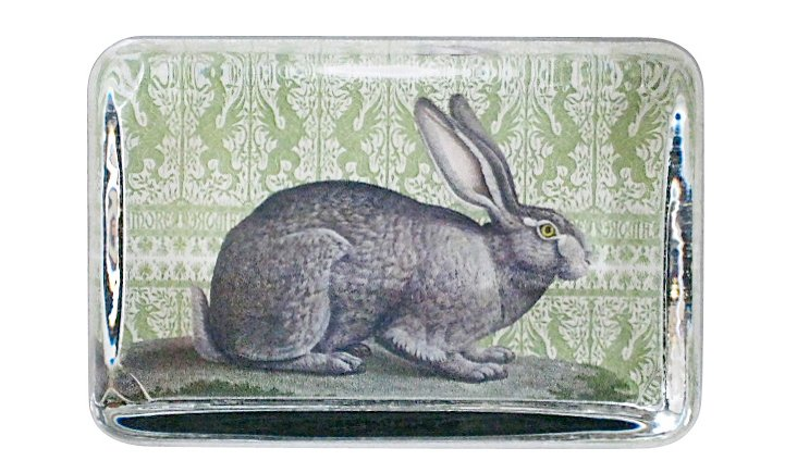 Gray Rabbit Paperweight