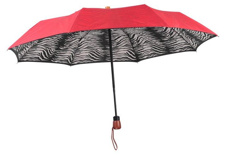 Adrienne Landau Umbrella, Red Zebra
