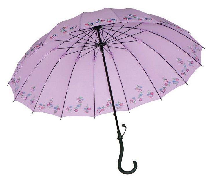 Crook Stick Umbrella, Purple