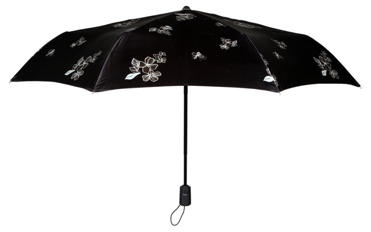 Manhattan Umbrella, Black Floral
