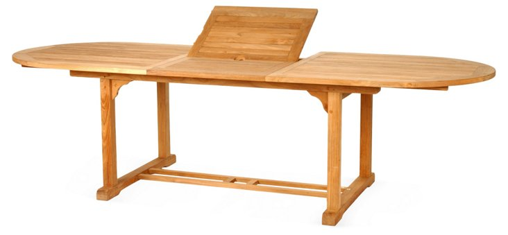 """Eden 72""""-96"""" Oval Extension Dining Table"""