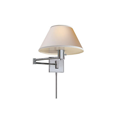 Classic Swing Arm Sconce, Nickel