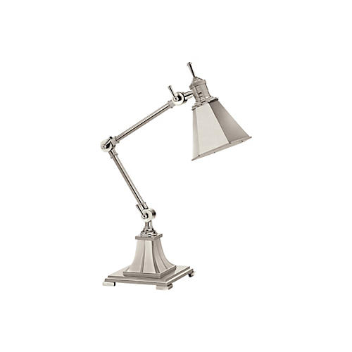 Architect Desk Lamp, Polished Silver