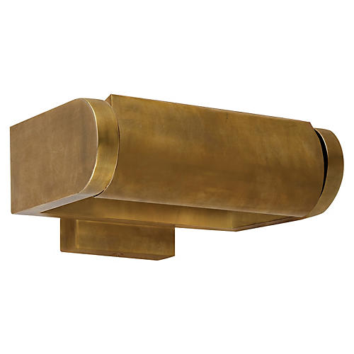 "David 7"" Art Light, Antiqued Brass"