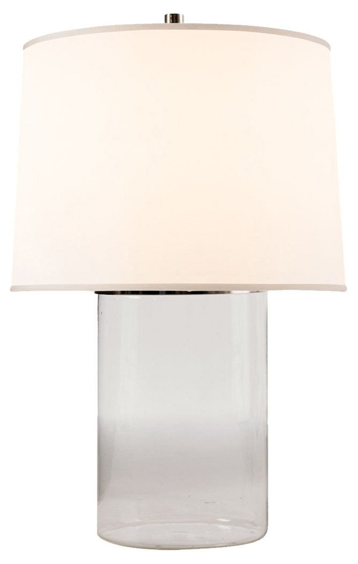 Simple Cylinder Table Lamp, Crystal