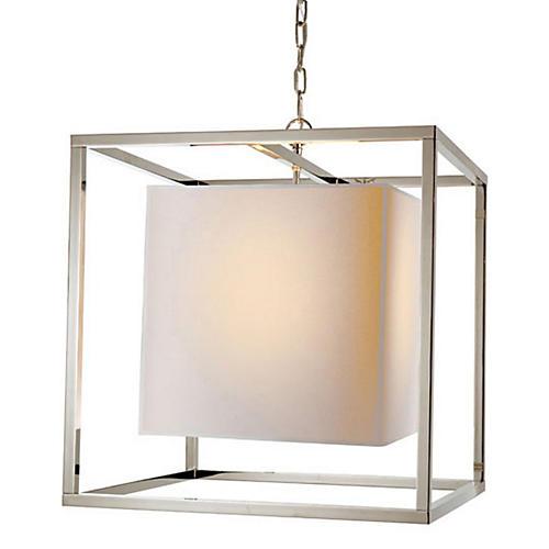 Caged Lantern, Polished Nickel