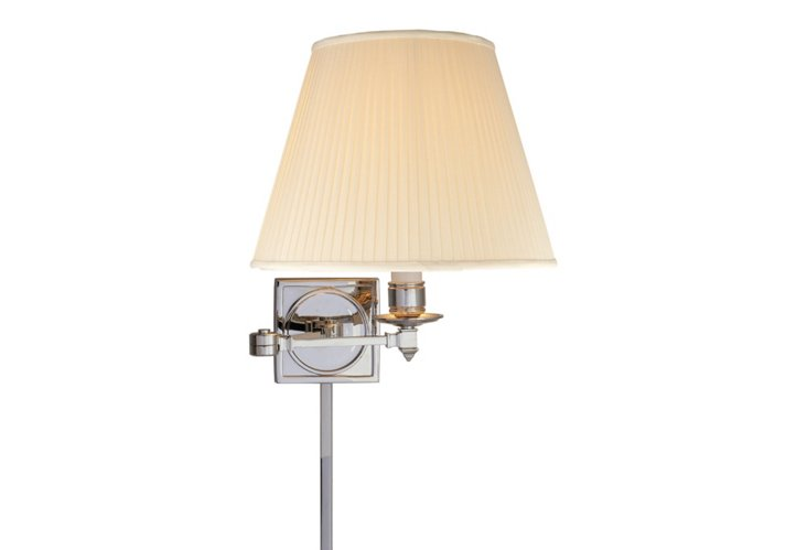 Fred Swing-Arm Wall Sconce, Nickel