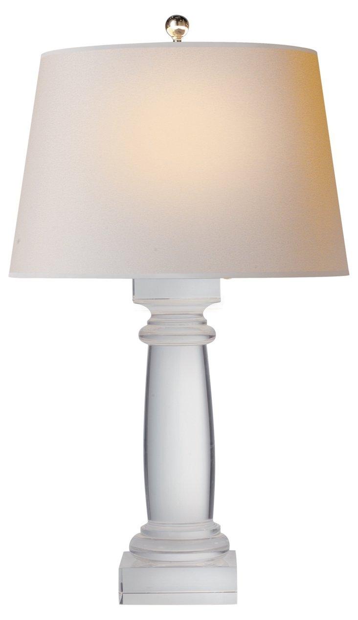 Crystal Column Bedside Lamp