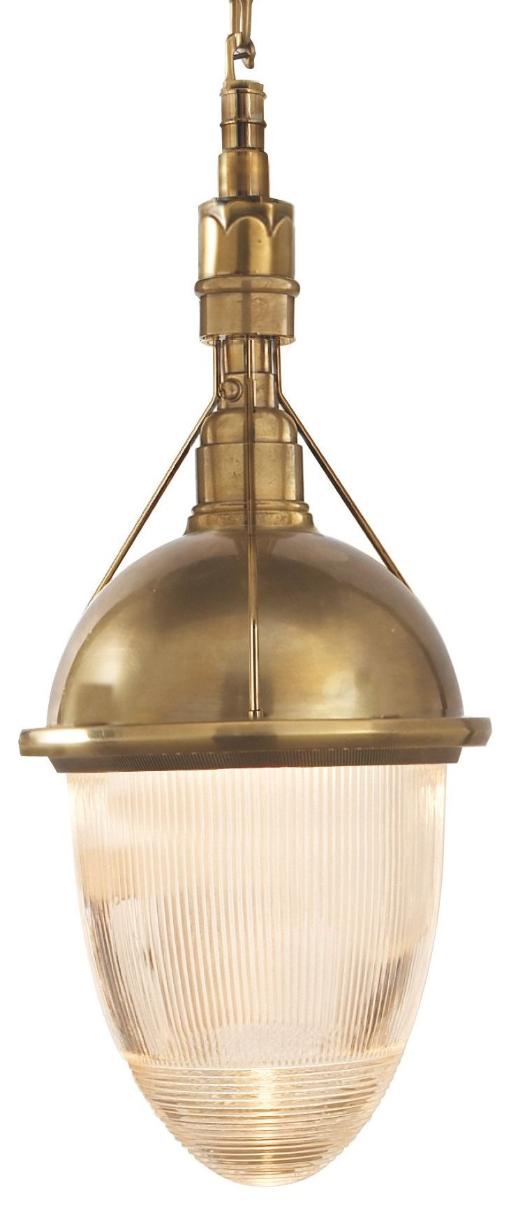 Large Garey Pendant, Antiqued Brass