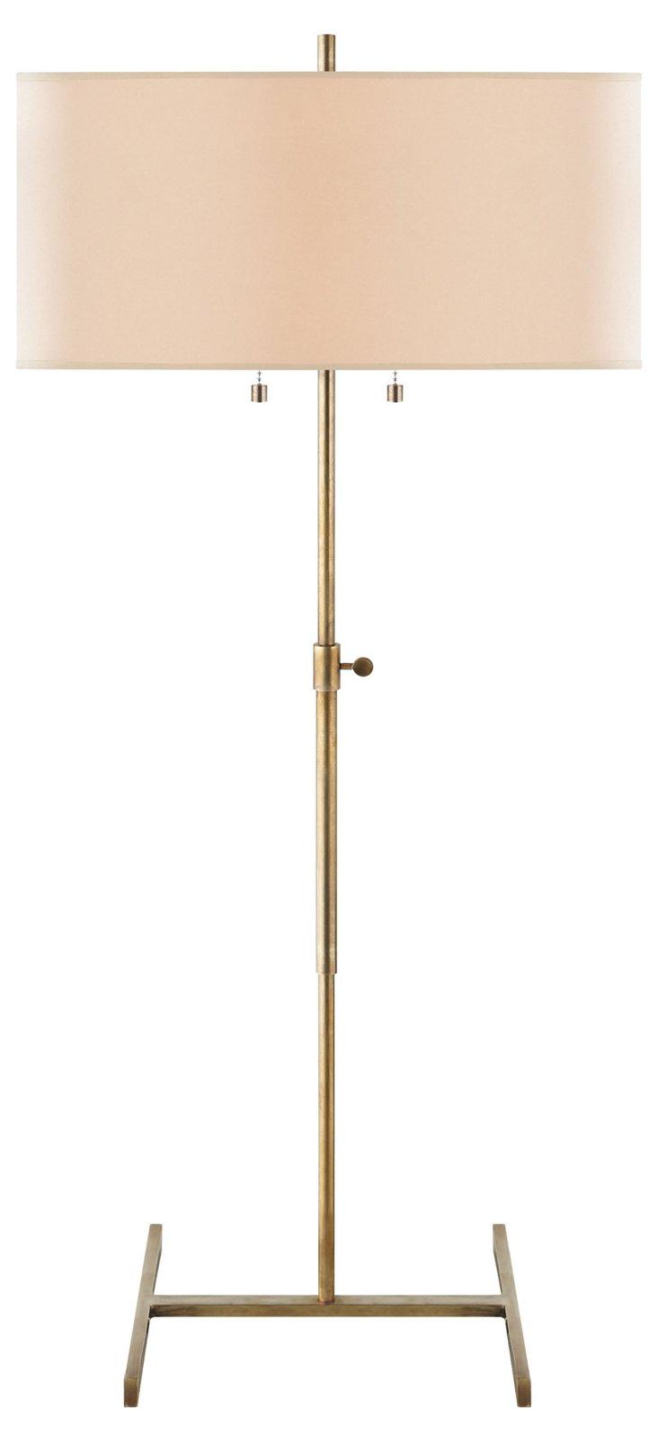 Jake Table Lamp, Antiqued Brass