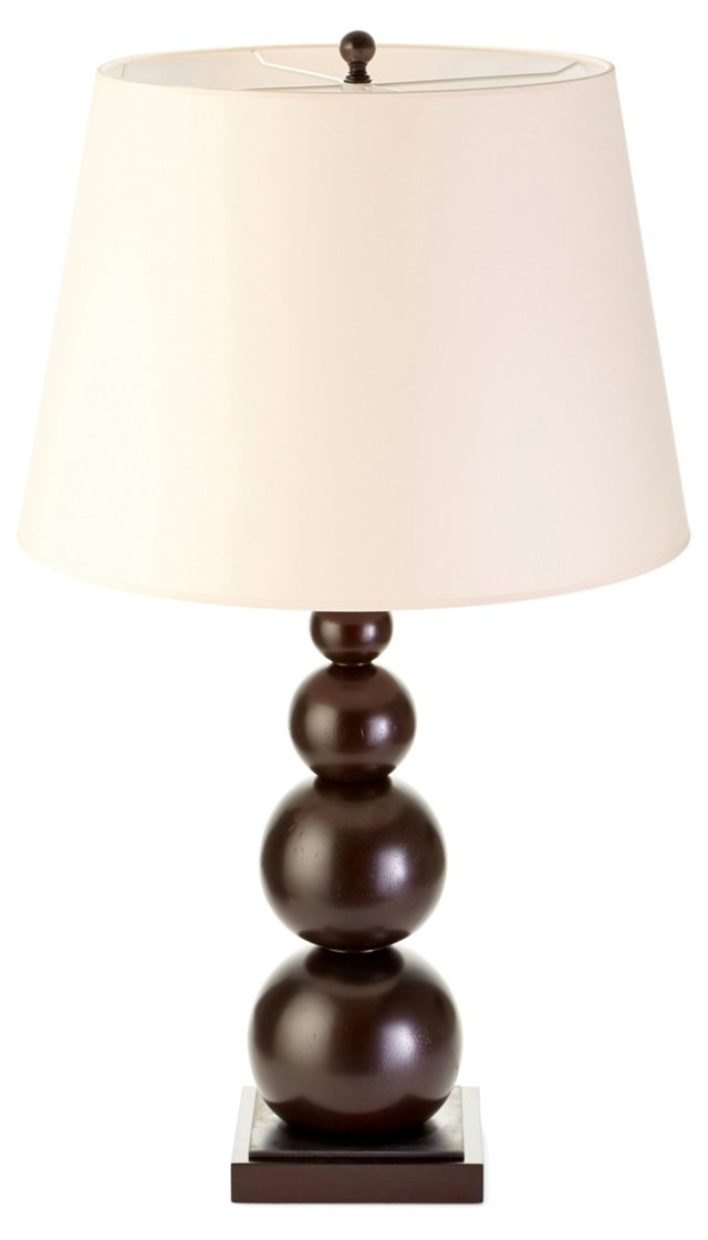 Danbury Stacked Table Lamp, Wood