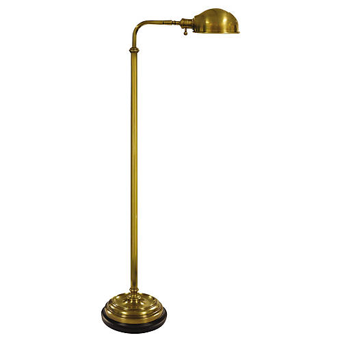 Apothecary Floor Lamp, Brass