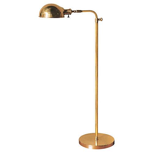 Old Pharmacy Floor Lamp, Brass